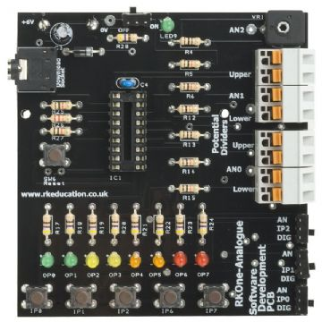 RKOneAnalogue Training/Development PCB for 18 pin PIC,PICAXE and Genie Self Build Kit